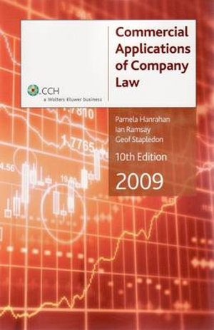 Cover of Commercial Applications of Company Law 2009