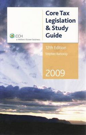 Cover of 2009 Core Tax Legislation and Study Guide