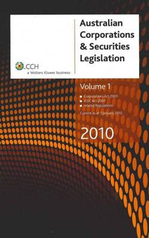 Cover of Australian Corporation & Securities Legislation 2010 - Volume 1