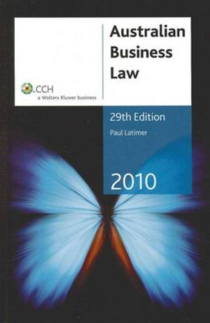 Cover of Australian Business Law 2010 - 29th Edition