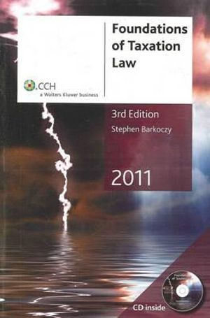 Cover of Foundations of Taxation Law 2011 - 3rd Edition