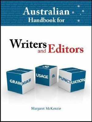 Cover of Australian Handbook for Writers and Editors 4/e