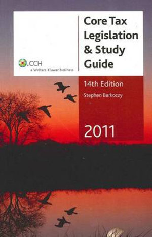 Cover of Core Tax Legislation & Study Guide 2011 - 14th Edition