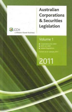 Cover of Australian Corporations & Securities Legislation 2011 - Volume 1