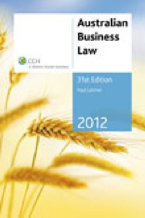Cover of Australian Business Law 2012 - 31st Edition