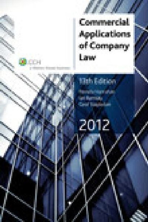 Cover of Commercial Applications of Company Law 2012 - 13th Edition