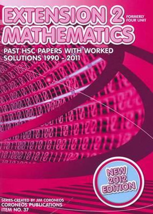Cover of Extension 2 Mathematics (formerly Four Unit)