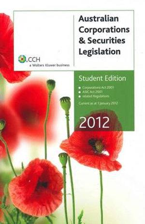 Cover of Australian Corporations and Securities Legislation 2012