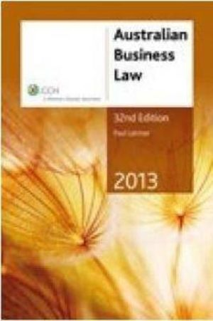 Cover of Australian Business Law 2013 - 32nd Edition