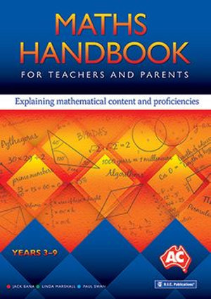 Cover of Maths Handbook for Teachers and Parents