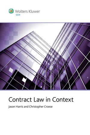 Cover of Contract Law in Context
