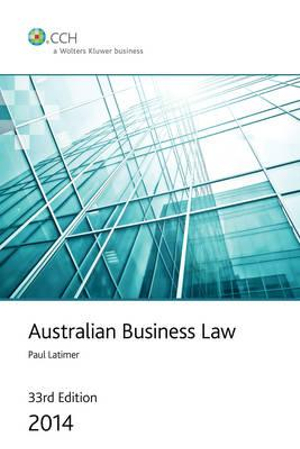 Cover of Australian Business Law 2014