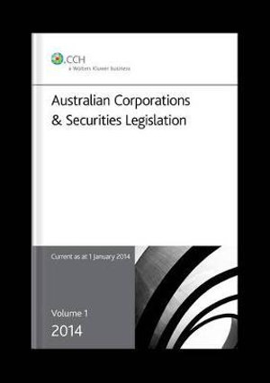 Cover of 2014 Australian Corporations and Securities Legislation