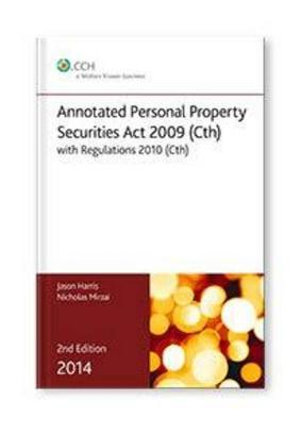 Cover of Annotated Personal Property Securities Act 2009 (Cth)