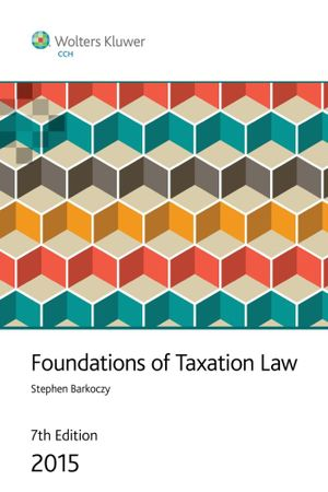 Cover of Foundations of Taxation Law 2015