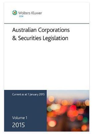 Cover of 2015 Australian Corporations and Securities Legislation