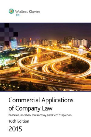 Cover of Commercial Applications of Company Law 2015