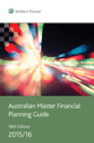 Cover of Australian Master Financial Planning Guide 2015/16