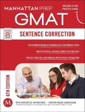 Cover of Sentence Correction GMAT Strategy Guide, 6th Edition