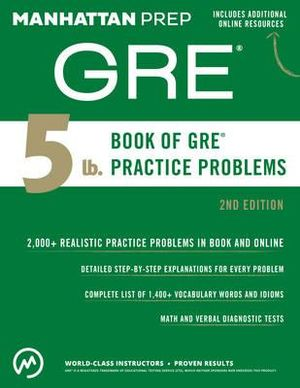 Cover of 5 lb. Book of GRE Practice Problems