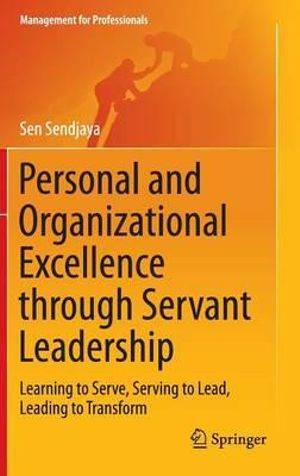 Cover of Personal and Organizational Excellence through Servant Leadership