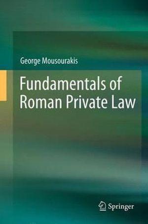 Cover of Fundamentals of Roman Private Law