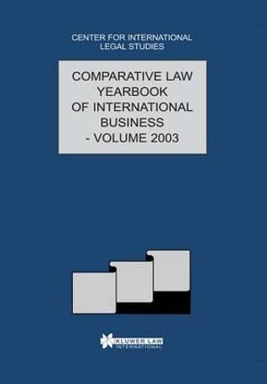 Comparative Law Yearbook of International Business : v.25 - Centre For International Legal Studies